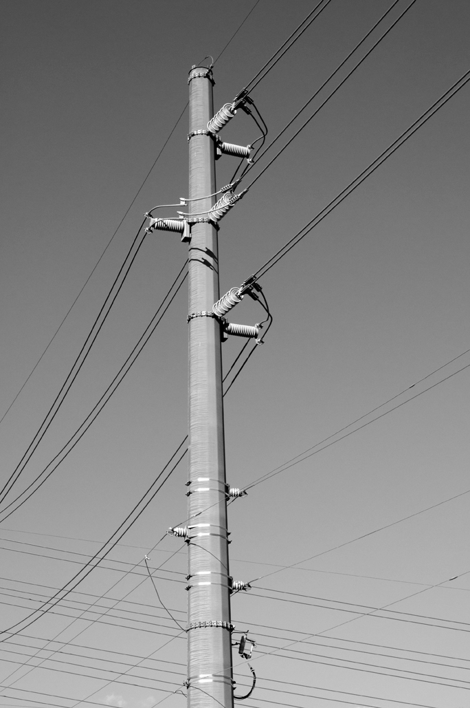 art black                 and white graphic lines power industrial infrastructure
