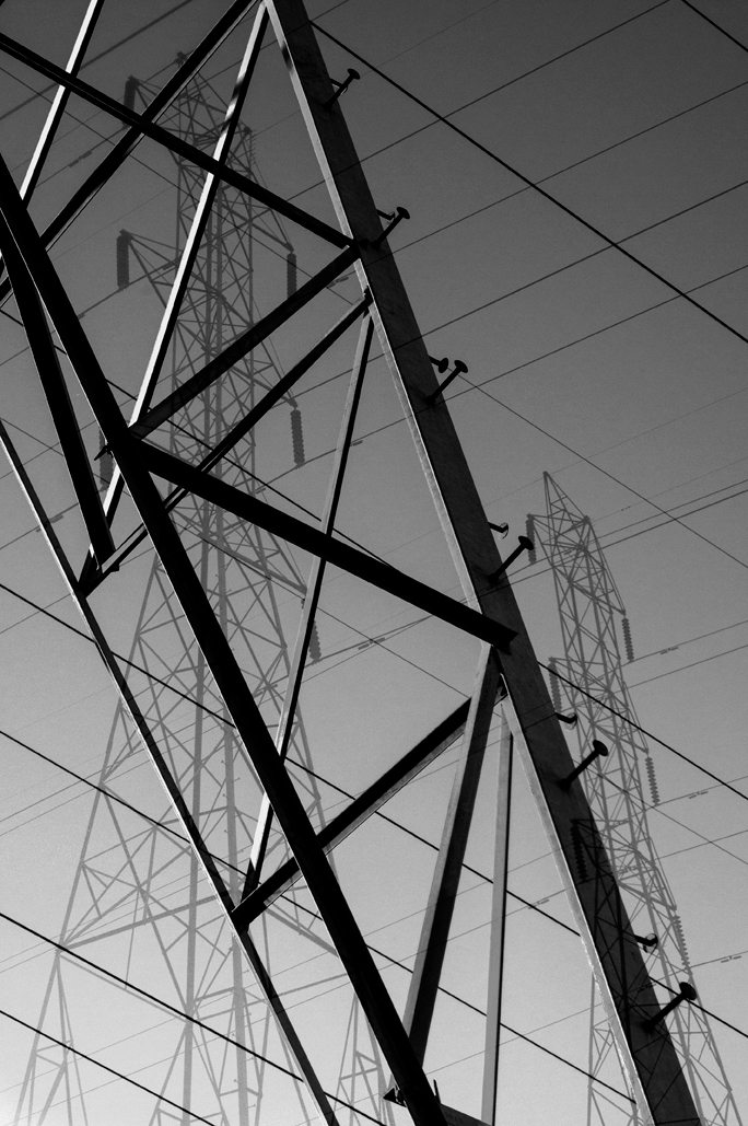 art black               and white graphic lines power industrial infrastructure               photomontage digital composition